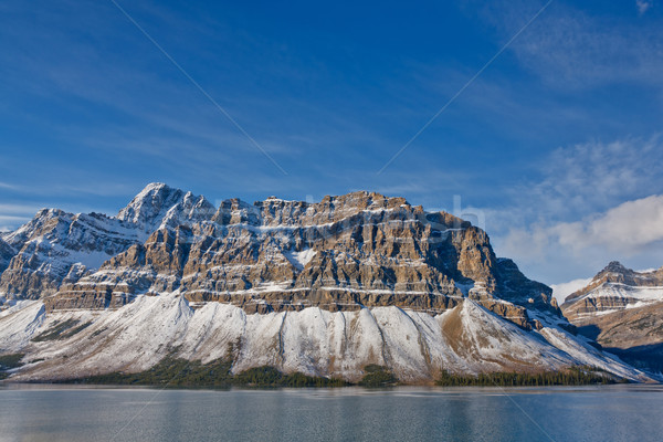 Crowfoot Mountain and Bow Lake, Canada Stock photo © broker
