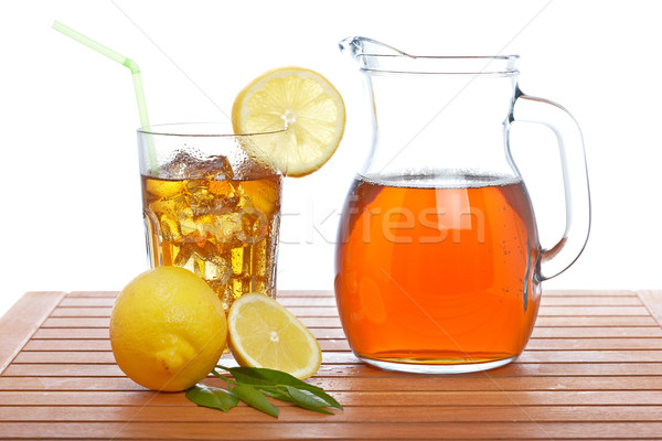 Ice tea pitcher and tumbler Stock photo © broker
