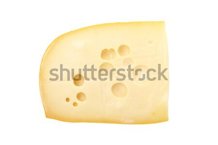 Photo stock: Tranche · fromages · fraîches · isolé · blanche · énergie