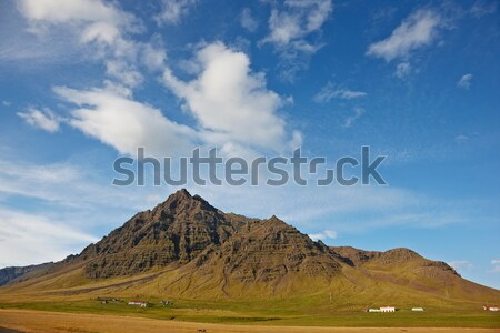 Beautiful clouds over the mountains, Kalfafell, East Fjords, Ice Stock photo © broker