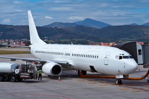 Refueling an airplane Stock photo © broker