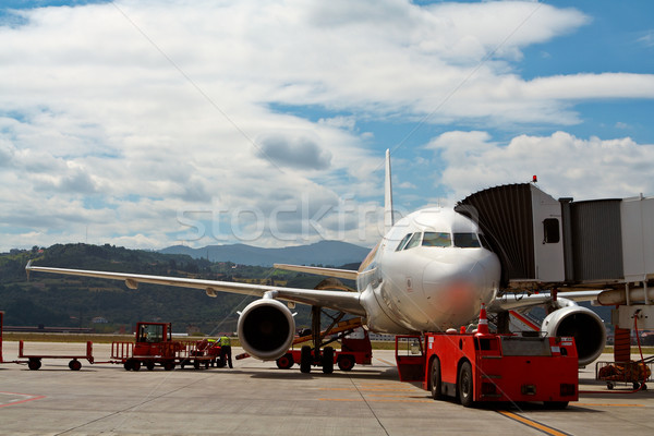 Stock photo: Maintenance and load of luggage