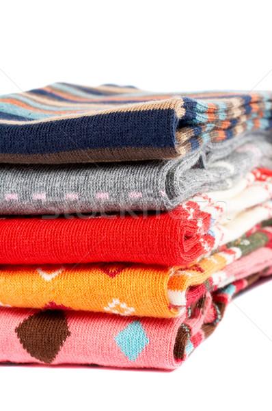Verscheidene kleuren kleding textuur haren Stockfoto © broker