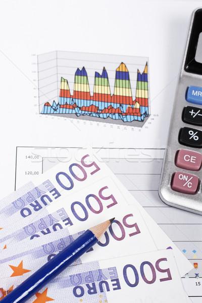 Ganancias calculadora lápiz tabla superficial negocios Foto stock © broker