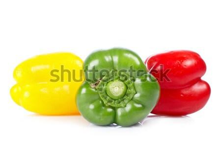 Pimientos frescos sabroso blanco superficial alimentos Foto stock © broker