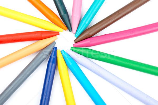 Colored wax crayons Stock photo © broker