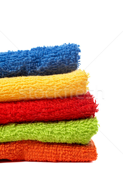 Multicolour towels stacked Stock photo © broker