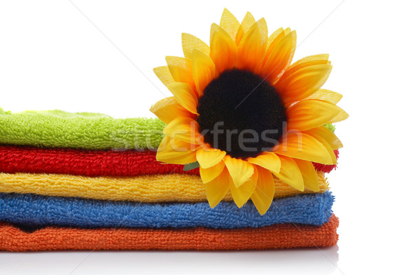 Artificial flower on towels Stock photo © broker