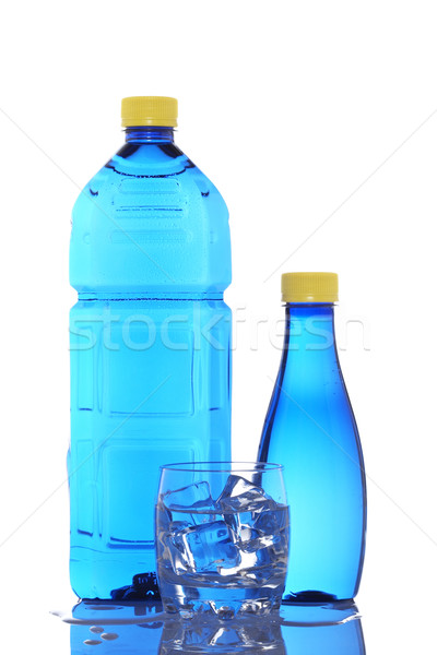 Bottles and glass of mineral water Stock photo © broker