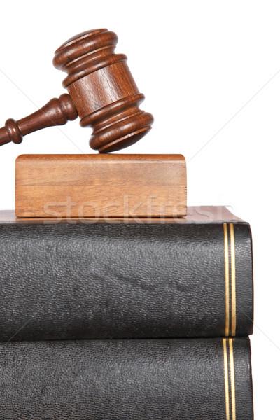 молоток прав книгах суд изолированный Сток-фото © broker
