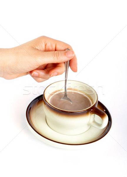 Woman holding the spoon Stock photo © broker