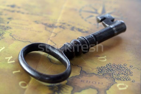 старые ключевые дома карта ретро блокировка Сток-фото © broker