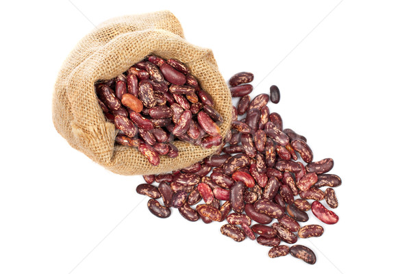 Burlap sack with red beans Stock photo © broker