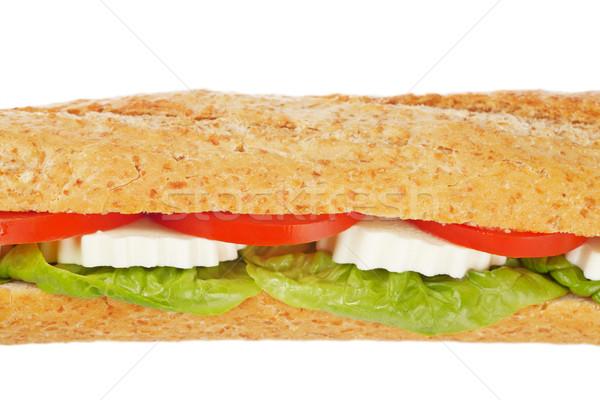 Foto d'archivio: Sandwich · lattuga · pomodori · formaggio · poco · profondo