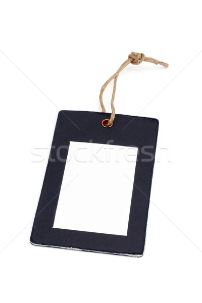 Blank price tag closeup Stock photo © broker