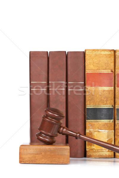 молоток старые прав книгах суд Сток-фото © broker