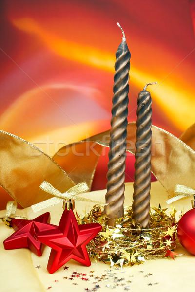 Velas natal decoração estrelas cor Foto stock © broker
