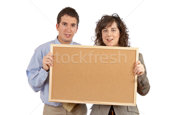 Holding the empty corkboard  Stock photo © broker