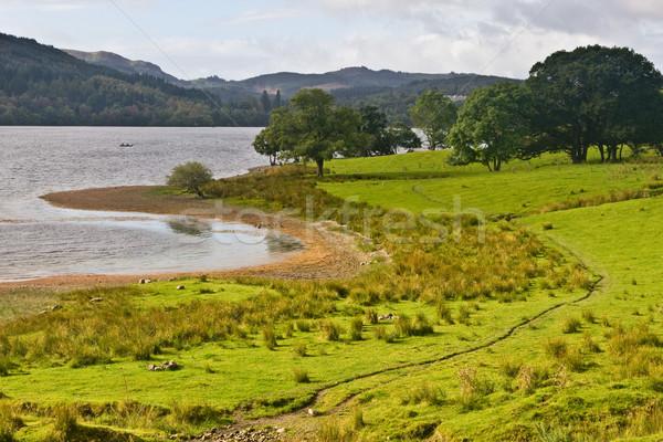 Paisible lac Écosse nuageux ciel eau Photo stock © broker