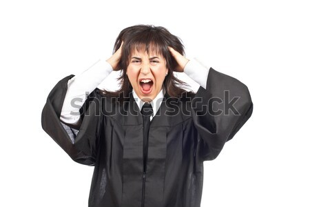 Angered female judge Stock photo © broker