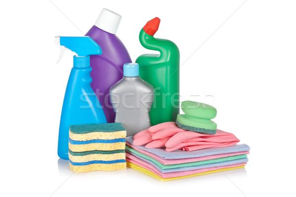 моющее средство бутылок пластиковых перчатки бутылку химического Сток-фото © broker