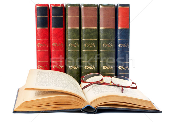 Glasses and open book Stock photo © broker