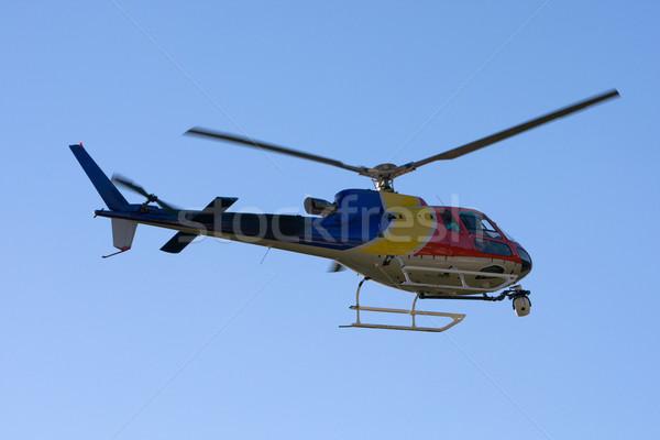 Helikopter kamera bemozdulás égbolt televízió kék Stock fotó © broker