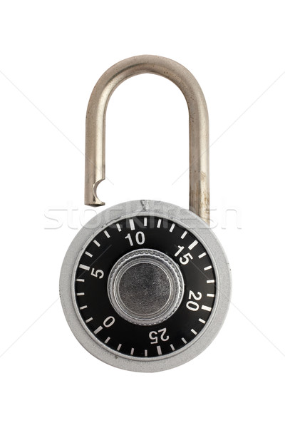 Unlocked combination padlock Stock photo © broker