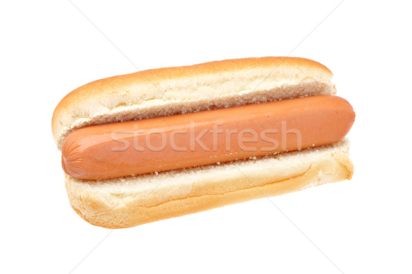 Hot dog geïsoleerd witte ondiep brood diner Stockfoto © broker