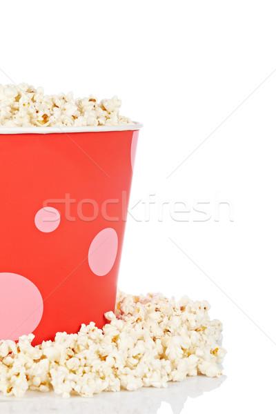Stockfoto: Popcorn · emmer · detail · witte · film · leuk