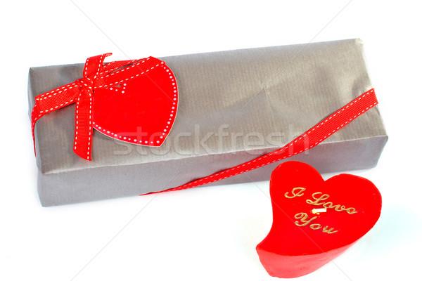 Miłości szkatułce yo Świeca serca polu Zdjęcia stock © broker