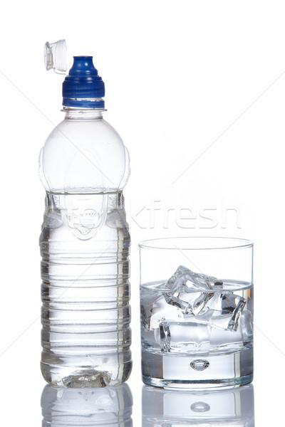 üveg üveg ásványvíz cseppek egészség jég Stock fotó © broker