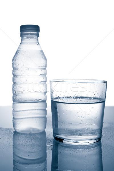 Fles glas mineraalwater gezondheid energie Stockfoto © broker