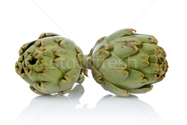 Two fresh and tasty artichokes Stock photo © broker