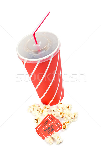 Popcorns, tickets and soda Stock photo © broker