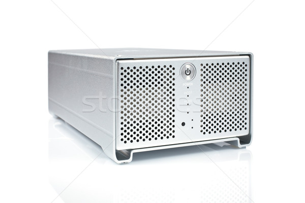 Dysk twardy serwera informacji czyste pisać dysku Zdjęcia stock © broker