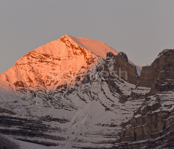 Beautiful alpenglow in the Canadian Rockies, Canada Stock photo © broker
