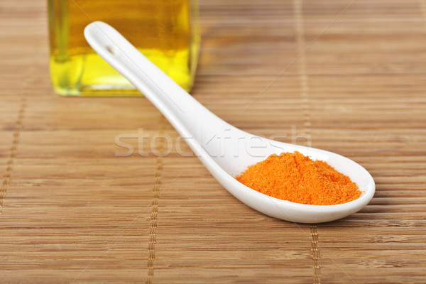 Saffron in the spoon Stock photo © broker