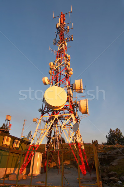 Parabolic antennas Stock photo © broker