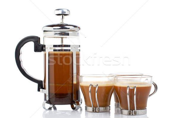 Three cups and coffee pot Stock photo © broker
