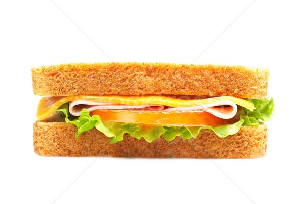 ストックフォト: 健康 · ハム · サンドイッチ · チーズ · トマト · レタス