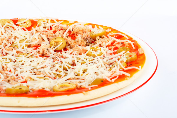 Detail of Italian pizza Stock photo © broker