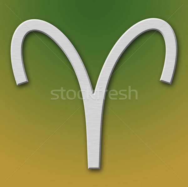 Aries Aluminum Symbol Stock photo © broker