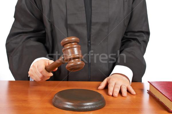 女性 裁判官 法廷 小槌 浅い ストックフォト © broker