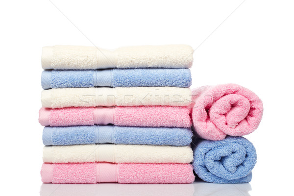 Toalhas relaxar banheiro cor Foto stock © broker