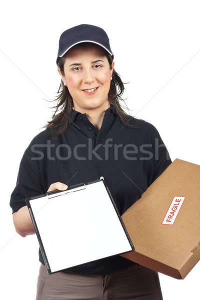 Sign for delivery Stock photo © broker