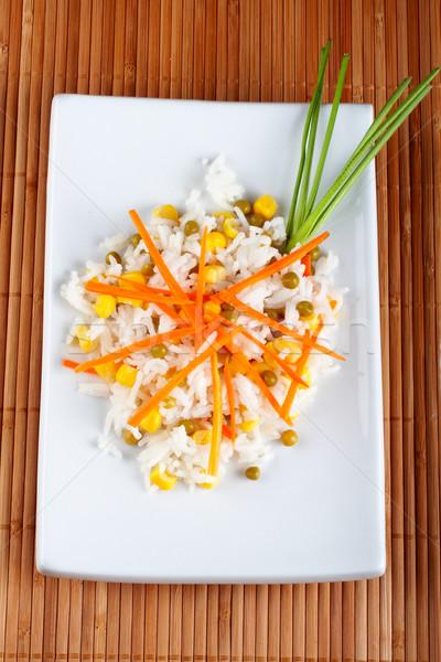 Salada arroz bambu comida laranja asiático Foto stock © broker