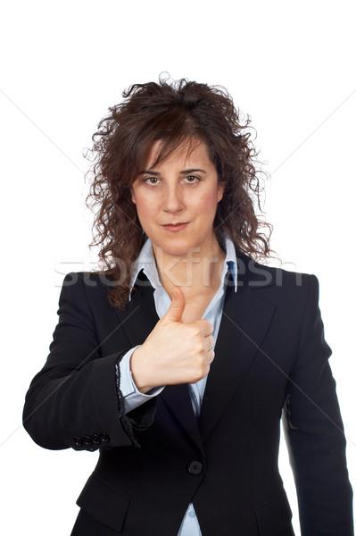 Successo imprenditrice gesto bianco donna lavoro Foto d'archivio © broker