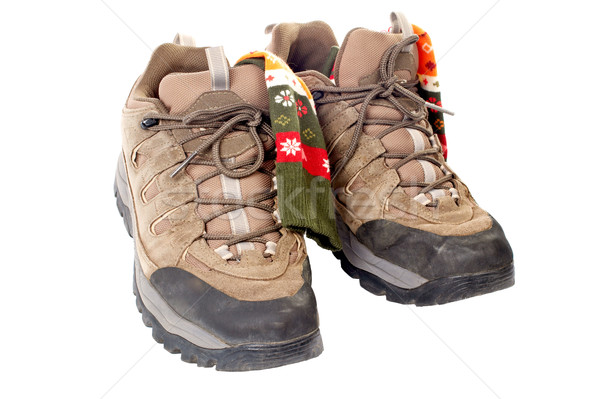 Used hiking boots and socks Stock photo © broker