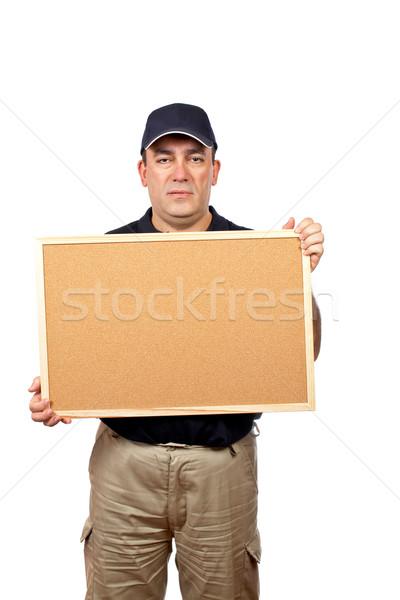 Corriere vuota uomini lavoro comunicazione Foto d'archivio © broker